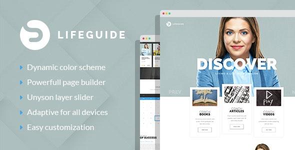 LifeGuide - Public Speaker & Life Coach WordPress theme - Personal Blog / Magazine