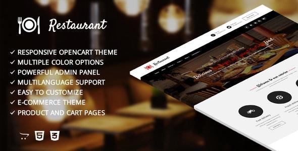 Restaurant – Responsive Opencart Template - Shopping OpenCart