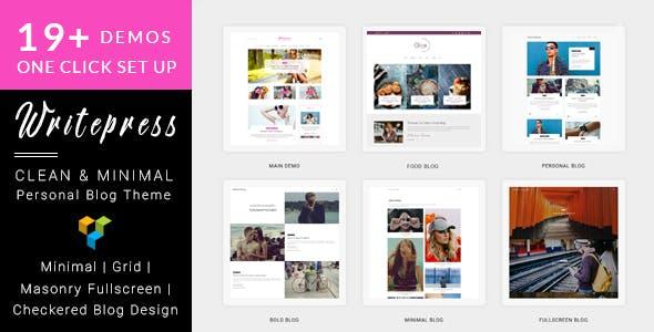 Writepress Personal Blog and Magazine WordPress Theme