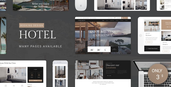 Hotel PSD Template - Travel Retail