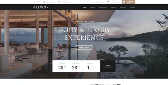 Hotel PSD Template