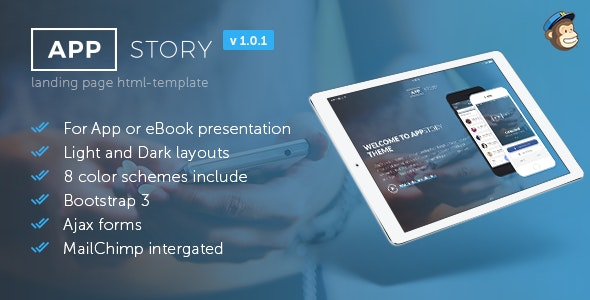 AppStory - Mobile App & e-Book Landing Page - Landing Pages Marketing