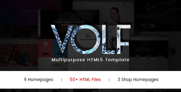 Volf - Creative Multipurpose HTML Template - Creative Site Templates