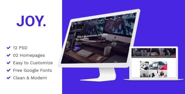 Joy | Creative Agency PSD Template - Creative Photoshop