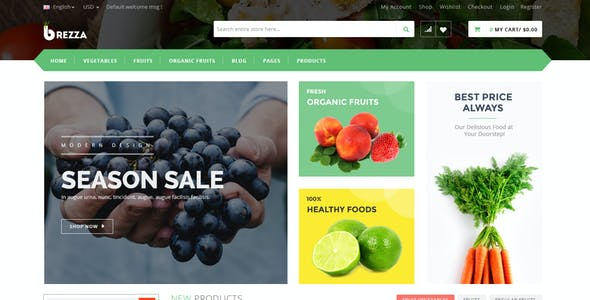 Vegetables WordPress eCommerce Themes from ThemeForest