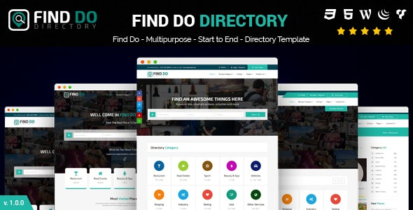 Find Do Multipurpose HTML5 Directory Template - Business Corporate