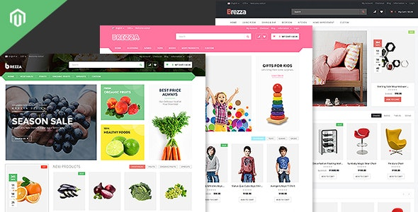 Brezza - Fruit Store Responsive Magento Theme - Shopping Magento