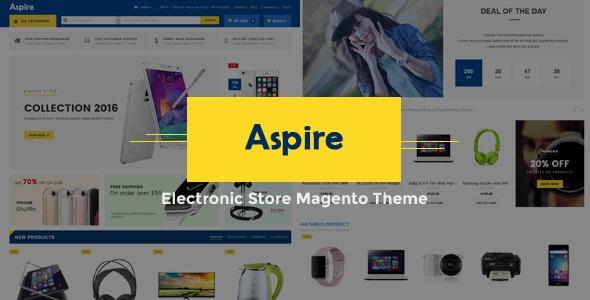 Aspire - Electronic Store Responsive Magento Theme - Shopping Magento