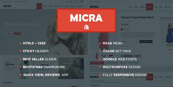 Micra Fashion Store Shopify Theme & Template