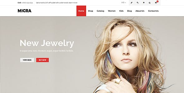 Micra Fashion Store Shopify Theme & Template