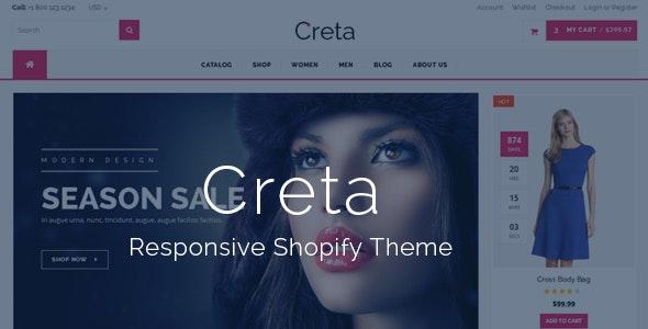 Creta - MultiPurpose Shopify Theme & Template - Shopping Shopify