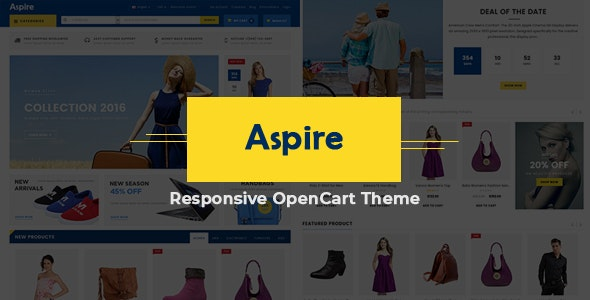 Aspire - Electronic Store Responsive OpenCart Theme - Shopping OpenCart