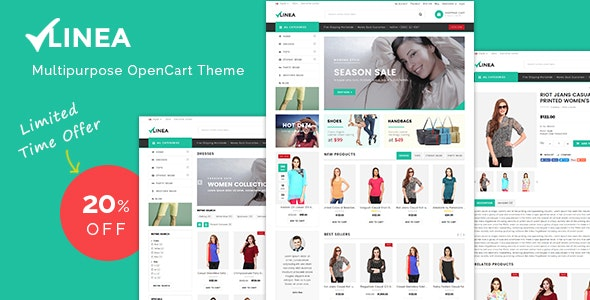 Linea - Clothing Store Responsive OpenCart Theme - Shopping OpenCart