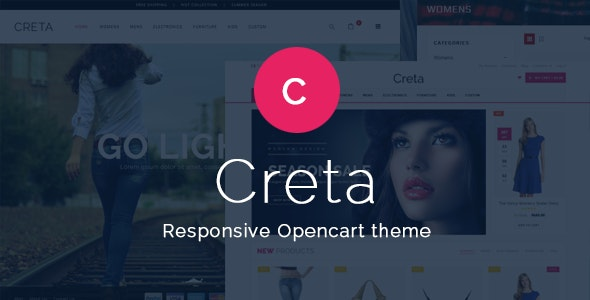 Creta - Flower Shop Responsive OpenCart Theme - Shopping OpenCart