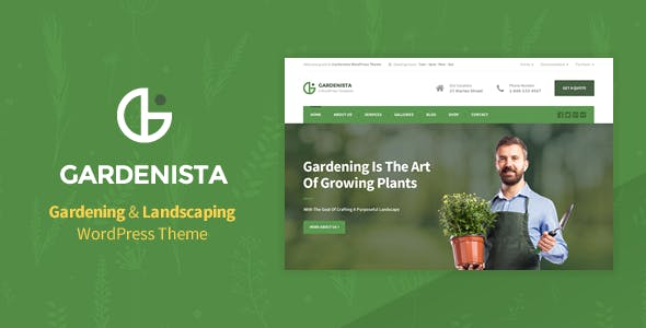 Gardenista - Landscaping and Business WordPress Theme