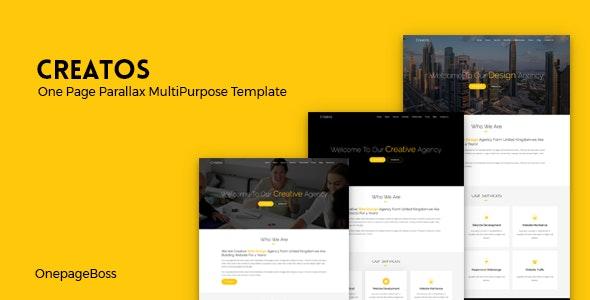 Creatos - One Page Parallax Premium Template - Creative Site Templates