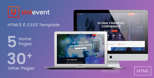 Unievent - Event & Conference HTML Template - Events Entertainment