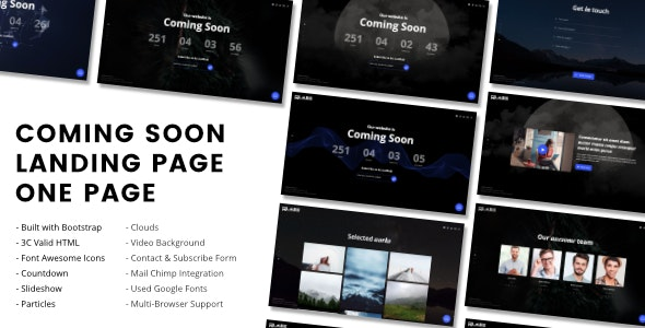 MoonLight - Coming Soon Page - Under Construction Specialty Pages
