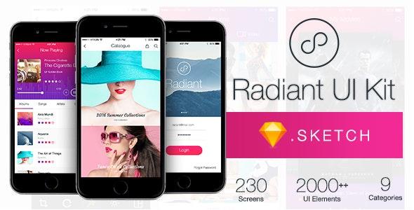Radiant UI Kit - 200+ for Sketch - Sketch UI Templates