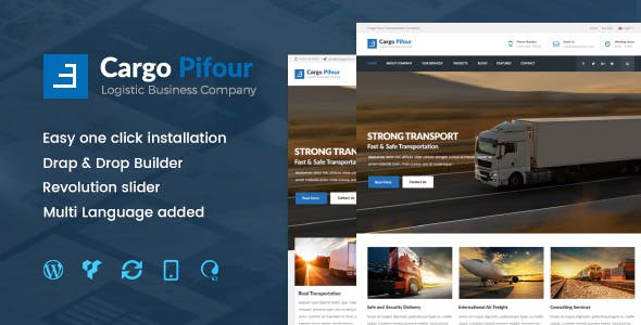 Trucking Company WordPress Template Templates from ThemeForest