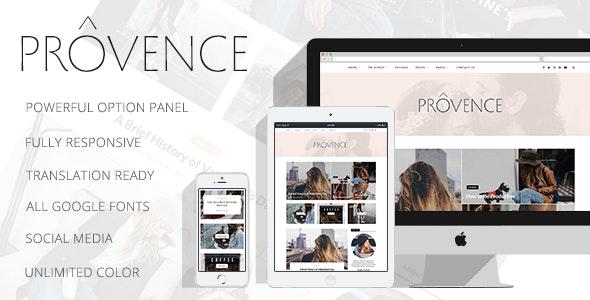 Provence - Smart Personal WordPress Blog Theme - Personal Blog / Magazine