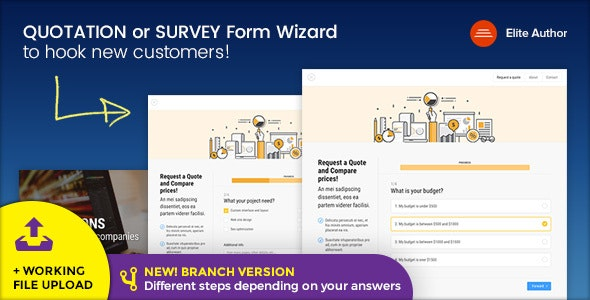 Quote - Quotation or Survey Form Wizard - Corporate Site Templates
