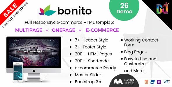 Bonito - Responsive Multi-Purpose HTML Template - Business Corporate