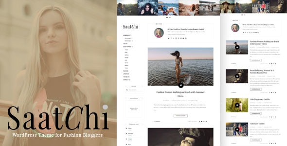 Saatchi - WordPress Theme for Fashion Bloggers - Blog / Magazine WordPress