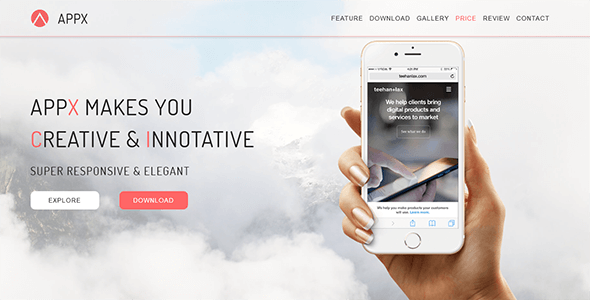 APPX_App Landing Page HTML - Technology Site Templates