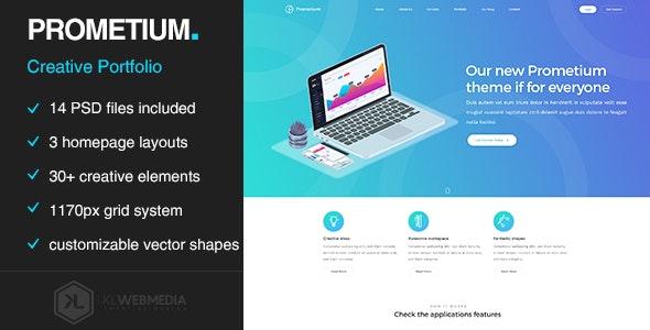 Prometium - Multi-Purpose PSD template - Portfolio Creative