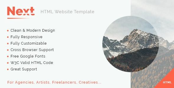 Next - Multipurpose HTML5 Template - Portfolio Creative