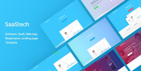Saastech - Software, Saas, App Responsive  Template - Technology Site Templates