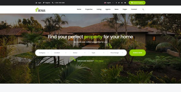 Benaa - Real Estates PSD Template