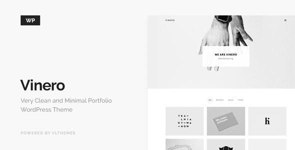Vinero - Very Clean and Minimal Portfolio WordPress Theme