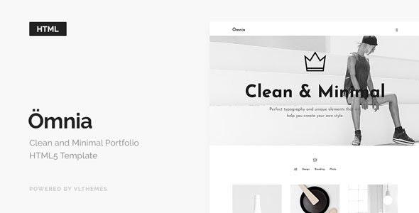 Omnia - Clean and Minimal Portfolio HTML5 Template - Portfolio Creative