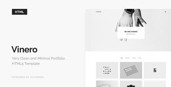 Vinero - Very Clean and Minimal Portfolio Template - Portfolio Creative