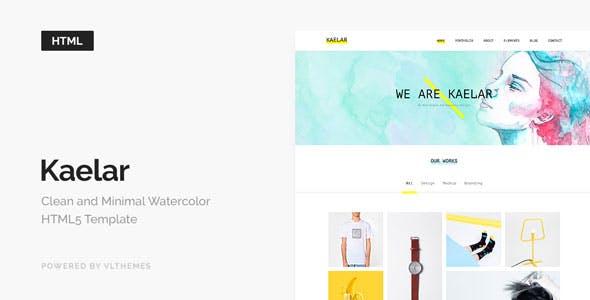 Kaelar - Watercolor HTML5 Template