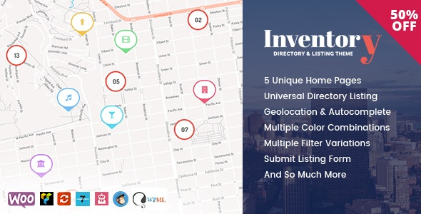 Inventory - WordPress Directory Theme - Directory & Listings Corporate