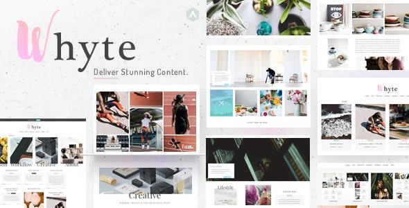 Whyte | Creative WP Theme - Personal Blog / Magazine
