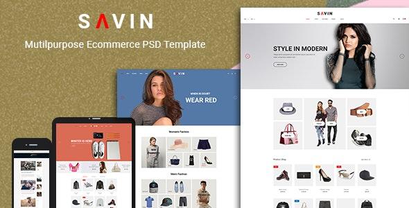 Savin - Fashion PSD Template - Fashion Retail