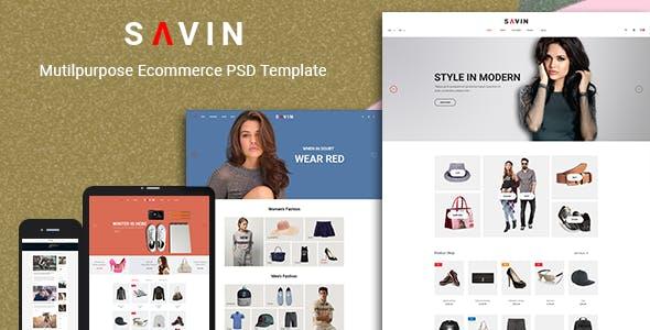 Savin - Fashion PSD Template