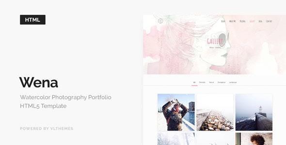 Wena - Watercolor Photography Portfolio Website Template - Portfolio Creative