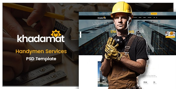 Khadamat - Handymen Services PSD Template - Business Corporate