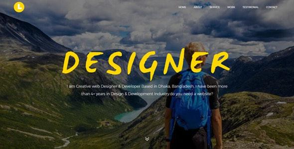 Latos - Creative Personal Portfolio Template - Personal Site Templates
