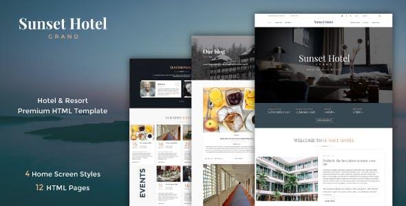 Sunset | Hotel & Resort Responsive HTML5 Template