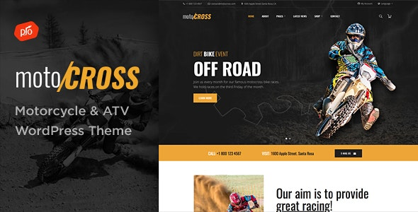 motoCROSS - Motorcycle & ATV WordPress Theme - Business Corporate