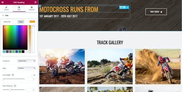 motoCROSS - Motorcycle & ATV WordPress Theme