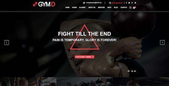 GYM D - GYM PSD Template