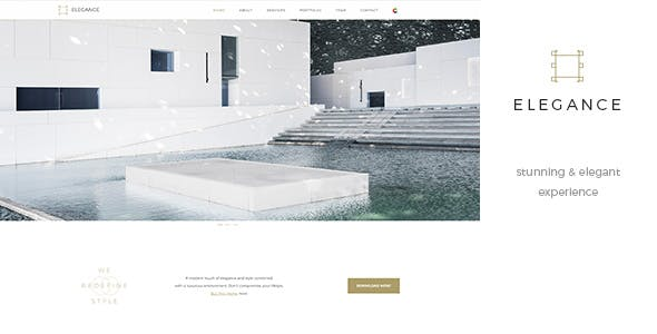 Elegance One Page - Parallax RTL Black & White Template