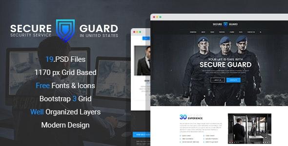 SecureGuard – Security Service PSD Template - Business Corporate